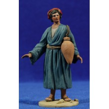 Pastor jarras 10 cm barro pintado De Francesco