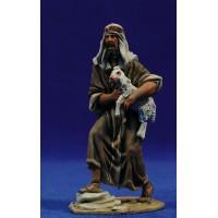 Pastor cordero brazos 10 cm barro pintado De Francesco