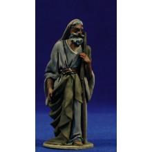 Pastor bastón y capucha 10 cm barro pintado De Francesco