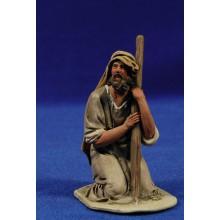 Pastor adorando con un bol 10 cm barro pintado De Francesco