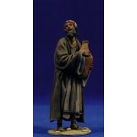 Pastor con jarra 10 cm barro pintado De Francesco
