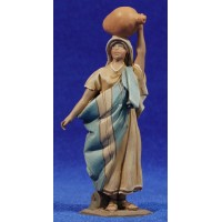 Pastora jarra cabeza 10 cm barro pintado De Francesco