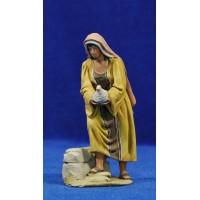 Pastora paloma 10 cm barro pintado De Francesco