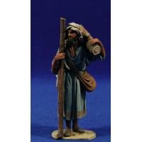 Pastor fajo leña 10 cm barro pintado De Francesco