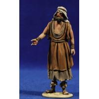 Pastor señalando 10 cm barro pintado De Francesco