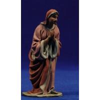 Pastora semi adorando 10 cm barro pintado De Francesco