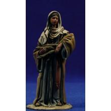 Pastora fajo leña 10 cm barro pintado De Francesco