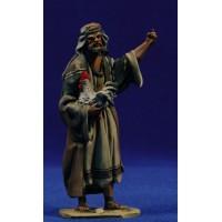 Pastor gallina 10 cm barro pintado De Francesco