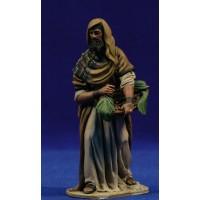 Pastor con zafata dátiles 10 cm barro pintado De Francesco