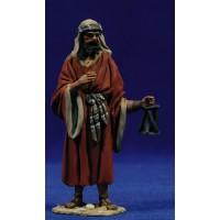 Pastor con farolillo 10 cm barro pintado De Francesco