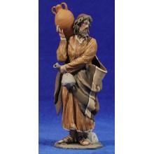 Pastor jarra y saco 14 cm barro pintado De Francesco