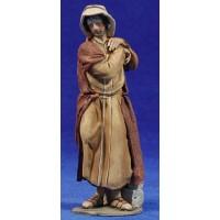 Pastor solo 14 cm barro pintado De Francesco