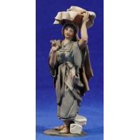 Pastora ropa 14 cm barro pintado De Francesco