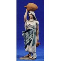 Pastora jarras 14 cm barro pintado De Francesco