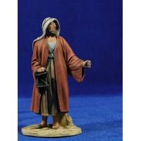 Pastor farolillo 14 cm barro pintado De Francesco