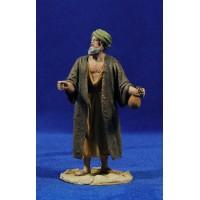 Pastor con calabaza 14 cm barro pintado De Francesco