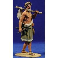 Pastor saco espalda 15 cm barro pintado De Francesco