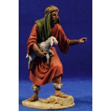 Pastor cordero brazos 15 cm barro pintado De Francesco