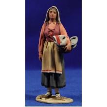 Pastora catalana cesto 10 cm barro pintado De Francesco