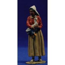 Pastora catalana oca 10 cm barro pintado De Francesco
