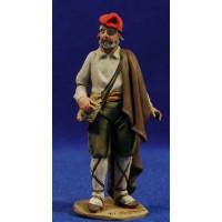 Pastor catalan viejo con bolsa 10 cm barro pintado De Francesco
