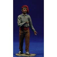 Pastor catalán vendedor 10 cm barro pintado De Francesco
