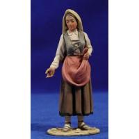 Pastora catalana vendedora 10 cm barro pintado De Francesco