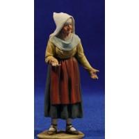 Pastora vieja catalana vendedora 10 cm barro pintado De Francesco