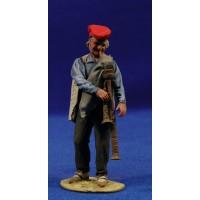 Pastor catalán músico tocando gaita 10 cm barro pintado De Francesco