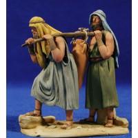 Pareja pastores con jarra 10 cm barro pintado De Francesco
