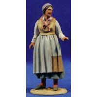 Pastora popular 10 cm barro pintado De Francesco