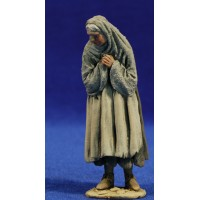 Pastora popular vieja adorando 10 cm barro pintado De Francesco