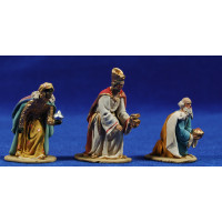Reyes adorando 5,5 cm barro pintado De Francesco