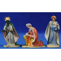 Reyes adorando 8 cm barro pintado De Francesco