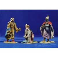 Reyes adorando 14 cm barro pintado De Francesco