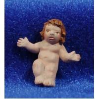 Niño Jesús calidad 8 cm barro pintado