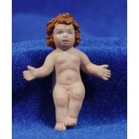 Niño Jesús calidad 10 cm barro pintado