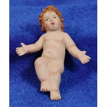 Niño Jesús calidad 16 cm barro pintado