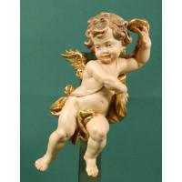 Ángel con cinta colgar 20 cm madera pintada