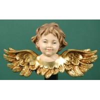 Busto de ángel colgar doble ala 10 cm resina