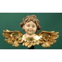 Busto de ángel colgar doble ala 15 cm resina