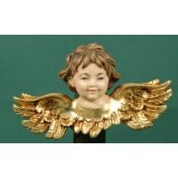 Busto de ángel colgar doble ala 7 cm resina