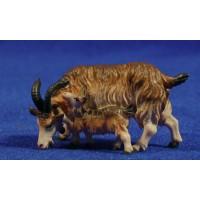 Cabra con cabrito 12 cm madera
