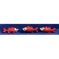 Pezes rojos 3 cm plástico