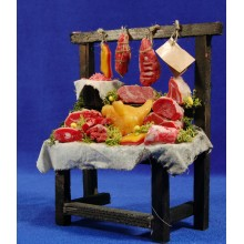 Banco carne 22 cm madera