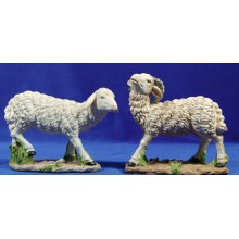 Grupo dos corderos 40 cm resina