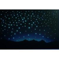 Fondo estrellas y montañas 60x40 cm iluminado papel