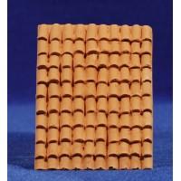 Tejado de tejas 0,5 cm resina