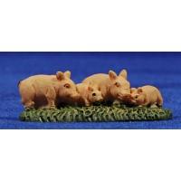 Grupo cerdos 6 cm resina