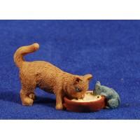 Grupo gato y rata 10 cm resina